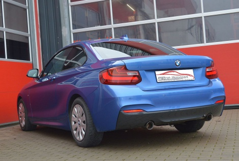Friedrich Motorsport 3 Zoll 76mm Duplex Sportauspuff Auspuff BMW 2er F22/F23