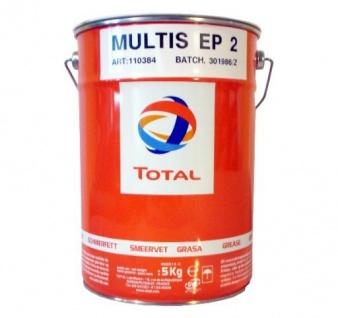 Total Mehrzweckfett 5KG Fett Kartuschenfett Multis 2 DIN 51825: K2K-25, K3K-20