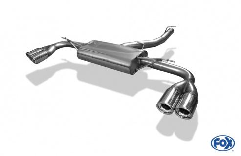 Fox Duplex Auspuff Sportauspuff Endschalldämpfer BMW X3 F25 2, 0l D 135kW 3, 0l