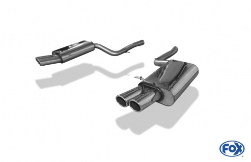 Fox Duplex Auspuff Sportauspuff Endschalldämpfer Audi A4 Typ B7 quattro 2x88x74