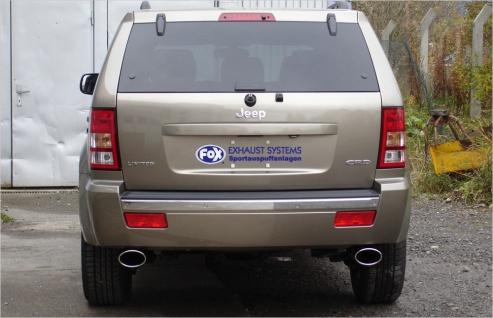 Fox Duplex Auspuff Sportauspuff Jeep Grand Cherokee WH 3, 0l CRD 160kW - Vorschau 2