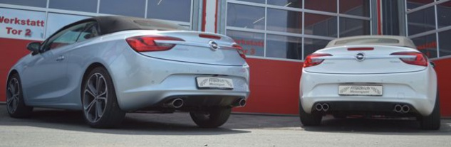 Friedrich Motorsport 70mm Duplex Auspuff Sportauspuff Auspuff Opel Cascada 13-