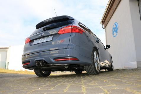 Fox Auspuff Sportauspuff mittig Ford Focus 3 Turnier / Kombi 2, 0l