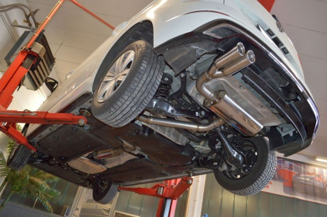Friedrich Motorsport Sportauspuff Gruppe A Anlage VW Touran 5T 1.4l TSI 110kW