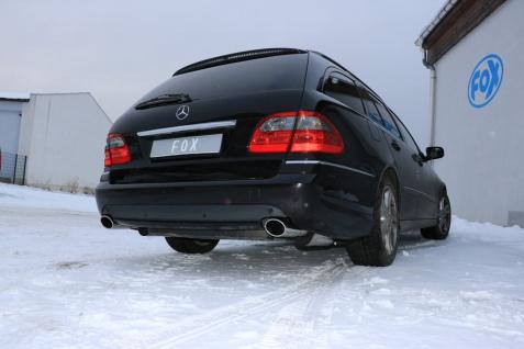 Fox Duplex Auspuff Sportauspuff Komplettanlage Mercedes E-Klasse S211 Kombi - Vorschau 2