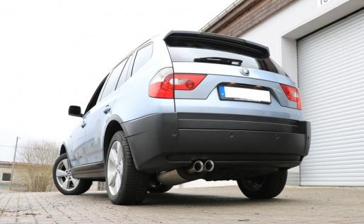 Fox Auspuff Sportauspuff Sportendschalldämpfer BMW X3 E83 2, 0l D