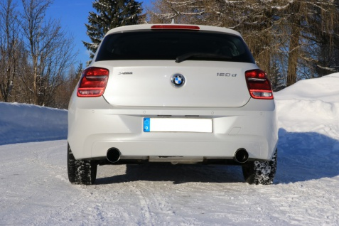 Fox Duplex Auspuff Sportauspuff Sportendschalldämpfer BMW F20/21 120d 2, 0l D