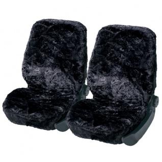 Lammfellbezug Lammfell Auto Sitzbezug Sitzbezüge Fell Merino anthrazit-blau