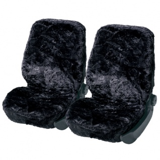 Lammfellbezug Lammfell Auto Sitzbezug Sitzbezüge Fellbezug Merino anthrazit-blau