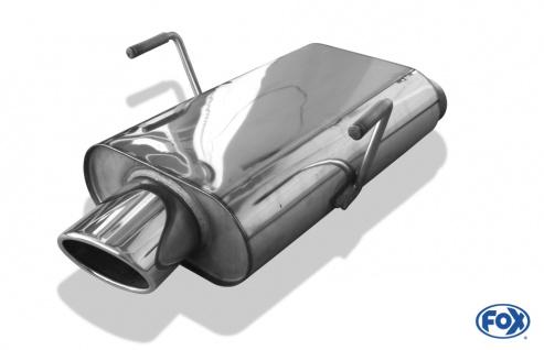 Fox Sportauspuff Sportendschalldämpfer Peugeot 406 Coupe 3, 0l 24V 140kW 3, 0l V6