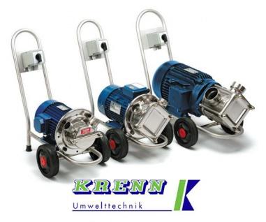Teich Pumpe, Schlammsauger, 10.320 l/h, 400V, Wagen