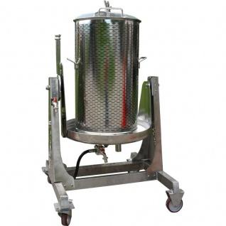 Wasserdruckpresse, Hydropresse aus Edelstahl, 80 Liter