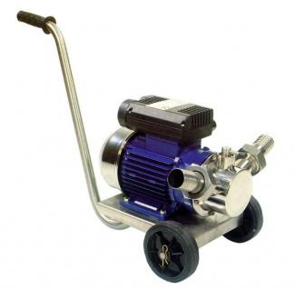Zweistufige Pumpe Volumex30, 400V, 4.800 l/h oder 9.000 l/h, selbstsaugend, Pumpe Edelstahl, (für Wein, Wasser, Schlammsauger, uvm)