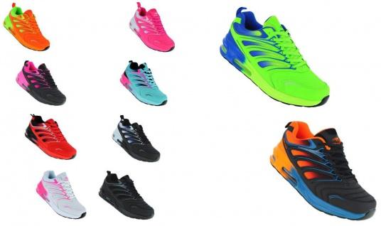 Neon Luftpolster Turnschuhe Schuhe Sneaker Boots Sportschuhe Unisex 095