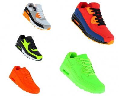 Neon Turnschuhe Schuhe Sneaker Sportschuhe Luftpolstersohle Herren 099