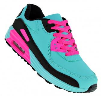 Art 613 Neon Luftpolster Turnschuhe Schuhe Sneaker Sportschuhe Neu Damen