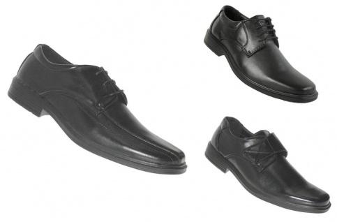 Elegante Innen Leder Herren Anzug Schuhe Halbschuhe Schnürschuhe Übergröße 034