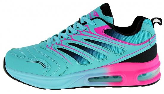 Art 882 Neon Luftpolster Turnschuhe Schuhe Sneaker Sportschuhe Neu Damen - Vorschau 3