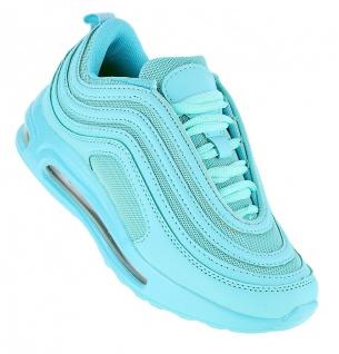 Art 847 Neon Luftpolster Turnschuhe Schuhe Sneaker Sportschuhe Neu Damen