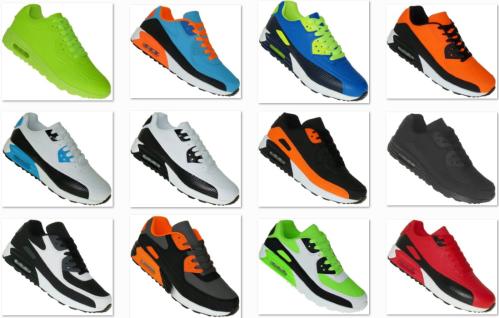 Neon Turnschuhe Schuhe Sneaker Boots Sportschuhe Luftpolstersohle Herren 009