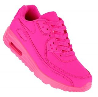 Art 107 Neon Luftpolster Turnschuhe Schuhe Sneaker Sportschuhe Neu Damen