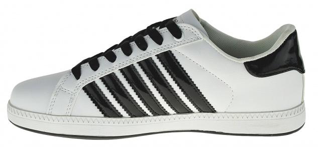 Art 488 Sneaker Schuhe Skater Schnürer STRIPES Slipper Boots Neu UNISEX - Vorschau 3