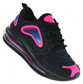 Art 609 Neon Luftpolster Turnschuhe Schuhe Sneaker Sportschuhe Neu Damen