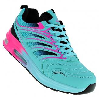 Art 882 Neon Luftpolster Turnschuhe Schuhe Sneaker Sportschuhe Neu Damen - Vorschau 1