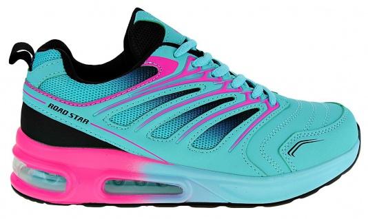 Art 882 Neon Luftpolster Turnschuhe Schuhe Sneaker Sportschuhe Neu Damen - Vorschau 2