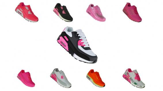 Pink Power Damen Turnschuhe Schuhe Sneaker Sportschuhe Luftpolstersohle 030