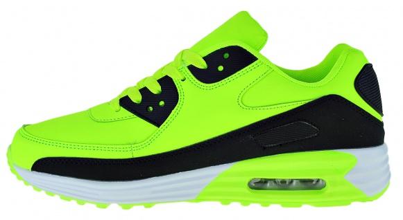 Art 368 Neon Turnschuhe Schuhe Sneaker Sportschuhe Luftpolstersohle Herren - Vorschau 3
