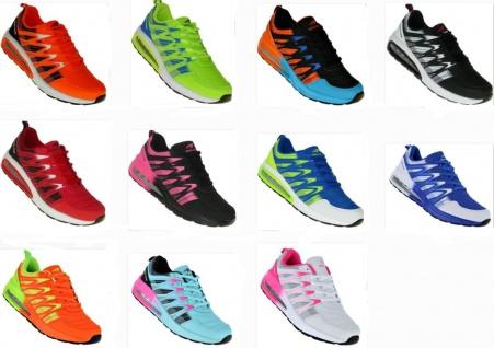 Neon Turnschuhe Schuhe Sneaker Sportschuhe Boots Luftpolster Damen Herren 002
