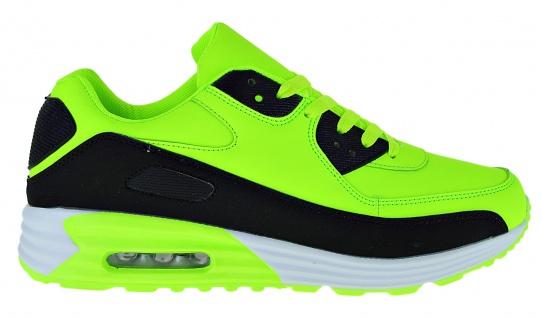 Art 368 Neon Turnschuhe Schuhe Sneaker Sportschuhe Luftpolstersohle Herren - Vorschau 2