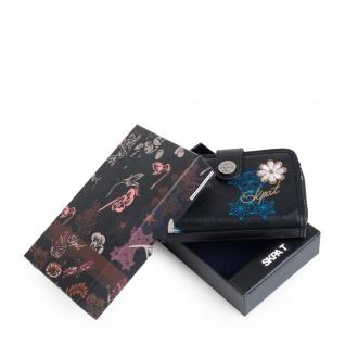 SKPAT Portmonnaie Gestickt Für Damen Geldbeutel Brieftasche Geldtasche Kartenhalter 95514 - Vorschau 3