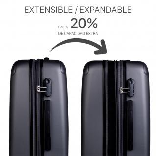 Itaca 3Er Kofferset Erweiterbar 55/66/76 Cm ABS. 4 Rollen. Reisekoffer. Hartschale. Kleine Koffer Genehmigt Für Ryanair, Mittlere Und Große. T71500 - Vorschau 5