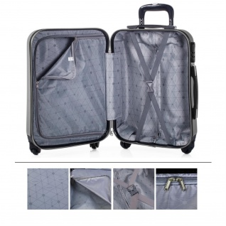 Itaca Hartsreisenkoffer 55 Cm ABS, 4 Rollen. Kabinengepäck. Handgepäck. Reisekoffer Low Cost Ryanair Koffer. Boardcase. 71150 - Vorschau 5