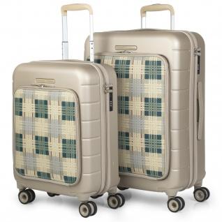 V&L 2Er Hartschalen Koffer-Set ABS+Polyester 4 Rollen TSA Klein Low Cost Und Mitllere Koffer Reisegepäck 56200