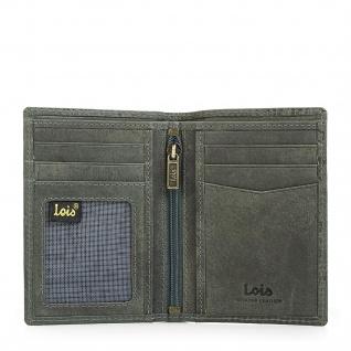 Lois Brieftasche Für Herren Leder Scheintasche Geldtasche Kartenhalter 11718 - Vorschau 5