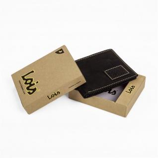 Lois Brieftasche Für Herren Portemonnaie Geldbörse Kartenhalter Echtleder Geldbörse Scheintasche 11401 - Vorschau 3