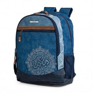 Lois Lässiger Rucksack Laptop 15 Backpack Messenger Bag 301501