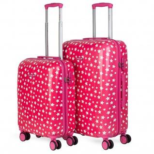 Itaca 2Er Hartschalen Kinder Kofferset Polycarbonat 4 Rollen Bedruckt Reisekoffer Klein- Und Mitllere Koffer 702400 - Vorschau 1