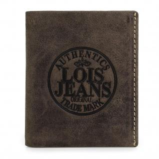 Lois Brieftasche Für Herren Leder Scheintasche Geldtasche Kartenhalter 12320 - Vorschau 4