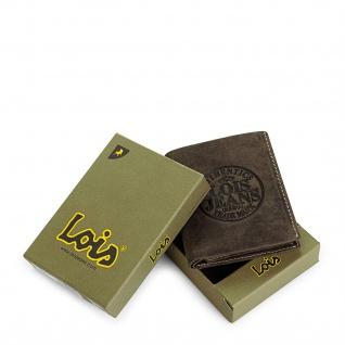 Lois Brieftasche Für Herren Leder Scheintasche Geldtasche Kartenhalter 12320 - Vorschau 3