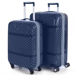 V&L 2Er Hartschalen Koffer-Set Koffer Reisegepäckn Reisekoffer 80100