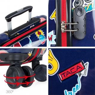 Itaca Kinderkoffer 4 Rollen Kabinengepäck Handgepäck Polycarbonat Reisekoffer Hartschale Koffer 702250 - Vorschau 5