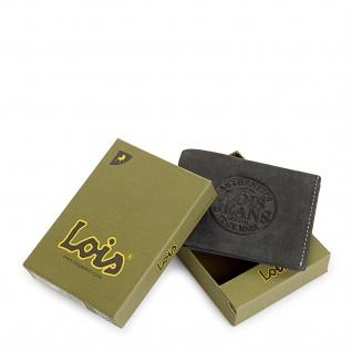 Lois Brieftasche Für Herren Portemonnaie Geldbörse Kartenhalter Echtleder Geldbörse Scheintasche 12301 - Vorschau 3
