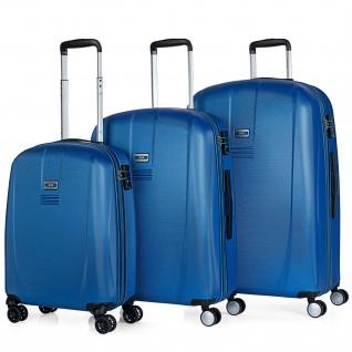 JASLEN 3Er Kofferset 55/66/76 Cm ABS Hartschale Reisekoffer Reisegäpack 56500