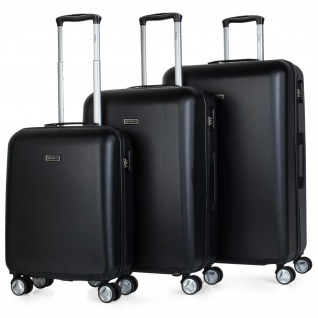 Itaca 3Er Hartschalen Kofferset 55/61/71 Cm ABS. 4 Rollen. Reisekoffer. Hängeschloss. Kleine Koffer, Mittlere Und Große. T58000