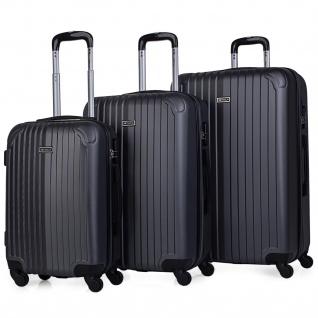 Itaca 3Er Kofferset Erweiterbar 55/66/76 Cm ABS. 4 Rollen. Reisekoffer. Hartschale. Kleine Koffer Genehmigt Für Ryanair, Mittlere Und Große. T71500