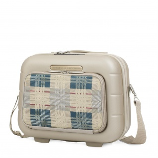V&L Kosmetikkoffer Hartschalen Beautycase ABS + Polyester/EVA Mehrere Fächer Und Spiegel TSA 56235
